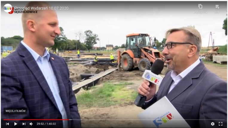 Redakcja 8tvr na placu budowy w Sędziejowicach